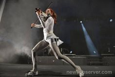 Lindsey Stirling in concert at Raleigh, NC's Red Hat Amphitheater Monday night June 22, 2015.