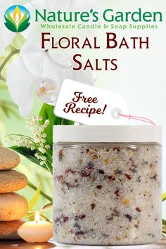 Free Floral Bath Salts Recipe by Natures Garden