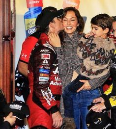 Jeff Gordon | NASCAR Sprint Cup Series driver Jeff Gordon at Martinsville with wife Ingrid and son Leo.