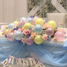 ポップで可愛いメインテーブル♡「ミニバルーン」を混ぜた高砂装花まとめ* | marry[マリー] Balloon Flowers, Balloon Bouquet, Balloon Arch, Balloon Garland, Birthday Balloon Decorations, Balloon Centerpieces, Wedding Decorations, Disney Inspired Wedding, Tea Party Birthday