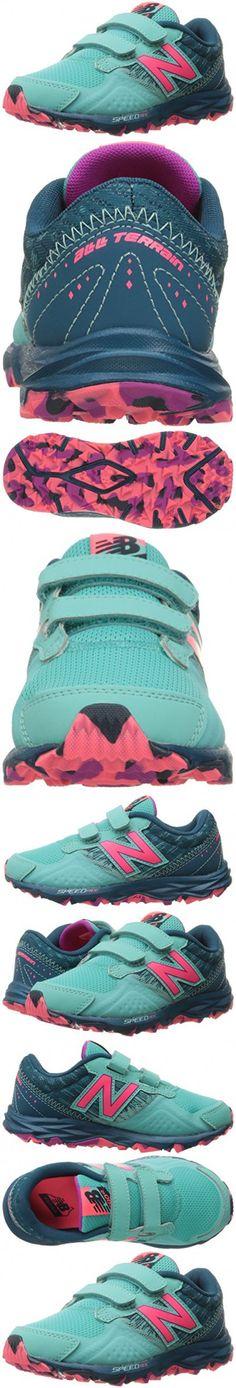 New Balance Girls' KE690V2 Running Shoes, Green/Pink, 3.5 M US Big Kid