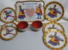 "Tin toy dishes, ""Alice in Wonderland"""