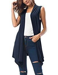 online shopping for Urban CoCo Women's Sleeveless Draped Open Front Cardigan Vest Asymmetric Hem from top store. See new offer for Urban CoCo Women's Sleeveless Draped Open Front Cardigan Vest Asymmetric Hem Sleeveless Cardigan, Lace Cardigan, Dress With Cardigan, Open Front Cardigan, Casual Sweaters, Long Sweaters, Casual Tops, Sweaters For Women, Work Casual