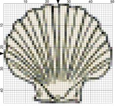 204clam shell needlepoint pattern - Althea DeBrule-Licensed to About.com
