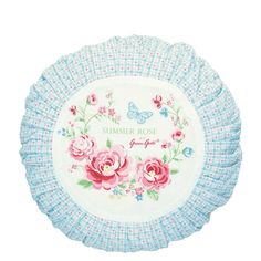 GreenGate Cushion Cover Round Summer D 40 cm   NEW! Spring/Summer 2014   Originated-Webshop
