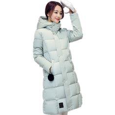 38.88$  Buy now - https://alitems.com/g/1e8d114494b01f4c715516525dc3e8/?i=5&ulp=https%3A%2F%2Fwww.aliexpress.com%2Fitem%2F2016-Winter-Women-Medium-long-Hooded-Down-jacket-Fashion-Slim-Thin-Cotton-jacket-Large-size-Casual%2F32759569572.html - 2017 Winter Women Medium long Hooded Down jacket Fashion Slim Thin Cotton jacket Large size Casual Warm Thick Cotton coat CM334 38.88$