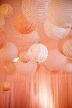Beautiful Pink Hanging Globes | photography by http://www.kristynhogan.com/