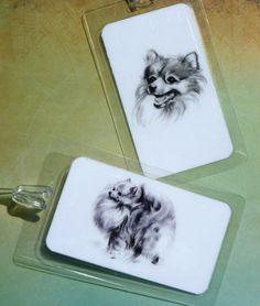 Pomeranian Vintage Art Laminated Luggage Tags by dogonitart, $8.00