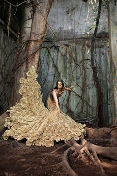 Fairytale princess trapped in an unnatural, enchanted forest... fashion concepts, storytelling & dramatic photography