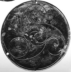 Bann Disc- Celtic art style known as 'La Tène' during the Iron Age- Ulster Museum