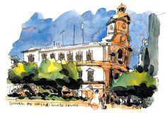 Urban Sketchers: All the Hong Kong sketches coloured