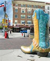 Just one of the many boots around Cheyenne