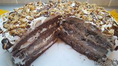 Csokis-mogyorós torta Desserts, Food, Savory Snacks, Tailgate Desserts, Deserts, Essen, Postres, Meals, Dessert