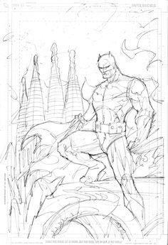 Batman in Barcelona Dragon's Knight by Jim Lee. Batman Drawing, Drawing Superheroes, Jim Lee Batman, Manga Anime, Jim Lee Art, Comic Layout, Batman Comic Art, Unique Drawings, Comic Books Art
