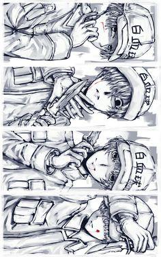 Hataraku Saibou || Cells at work! || Cr: 三月 Blood Anime, White Blood Cells, Okikagu, Anime Cat, Anime Crossover, Anime Boyfriend, Anime Films, Fan Art, Manga