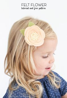 Felt flower tutorial and free pattern | craftiness is not optional | Bloglovin'