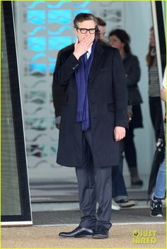 Colin Firth Filming 'Bridget Jones's Baby' in London, England on Friday (November 6, 2015)