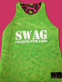 Swim team pinnies have never looked so swaggy.  Get your swim team pinnies only from Lightning Wear USA.  Made to order any way you want them for girls and guys.