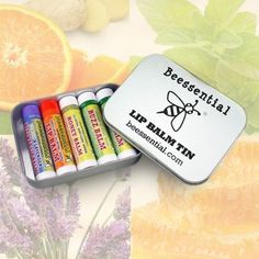 Beessential Assorted Lip Balm Five-pack Gift Tin Beessential, Beecology http://www.amazon.com/dp/B00PUYHNVU/ref=cm_sw_r_pi_dp_14oLub151NYN0