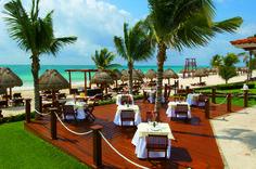 The Patio Restaurant at the Secrets Capri Riviera Cancun.