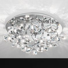 93081 Crystal Ceiling Light, Semi Flush Ceiling Lights, Glass Ceiling Lights, Luxury Lighting, Lighting Store, Galaxy Lights, Festival Lights, Exterior Lighting, Light Fittings