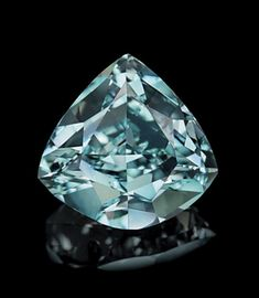 The Ocean Dream, a 5.50-carat Fancy Vivid Blue-Green diamond, the largest of its kind in the world.