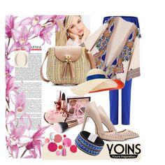 """Yoins kimono"" by irinavsl ❤ liked on Polyvore featuring Silvana, Eugenia Kim and Clinique"