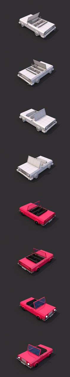 Low Poly Cabriolet #lowpoly