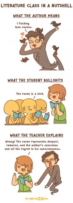 Literature Class In A Nutshell *I actually think like the teacher, but I'm a student*