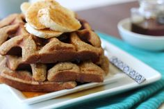 Cinnamon Banana Waffles from paleOMG blog // Waffles for 5 in 20 minutes! #paleo #breakfast #recipe