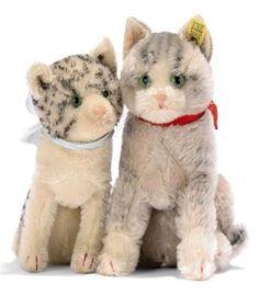 Steiff cats, circa 1936 and 1938. Christies.com.