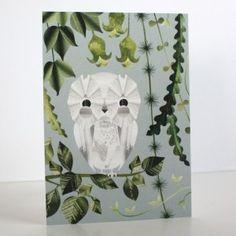 Huhuu-postikortti Annariikka Qvist Curtains, Shower, Owls, Prints, Vintage, Design, Eggs, Net Curtains, Owl