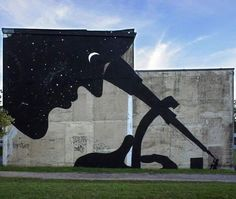 """We are the Universe observing itself"" by Sam3 - street art"