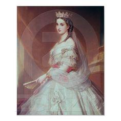 Retrato de Charlotte de Saxe-Cobourg-Gotha Impressão de Zazzle.pt