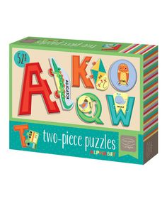 Love this Two-Piece Alphabet Puzzle Set on #zulily! #zulilyfinds