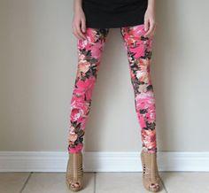 I think I like these floral leggings!