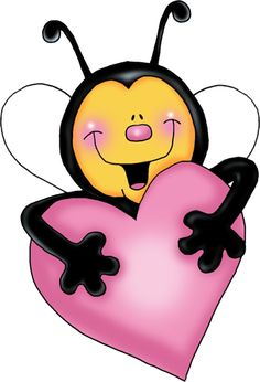 Bees With Pink Love Hearts Cartoon Clip Art - Bee Cartoon Clip Art Love Wallpaper For Mobile, Cute Love Wallpapers, Bumble Bee Cartoon, Cartoons Love, Clip Art, Bee Happy, Digi Stamps, Painted Rocks, Pink Love