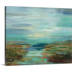 Silvia Vassileva Solid-Faced Canvas Print Wall Art Print entitled Reeds by the Lake III Lake Painting, Painting Prints, Wall Art Prints, Fine Art Prints, Framed Prints, Abstract Canvas, Canvas Wall Art, Summer Family Photos, Thing 1