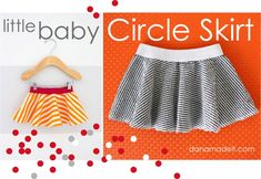 Celebrate BABY—TUTORIAL and PATTERN: little baby circle skirt.  So incredibly easy - and you could applique something on the onesie in the same print to make it a matching outfit! Add hairbow....