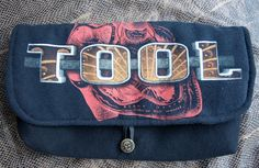TOOL - Upcycled Rock Band Tshirt Clutch Bag - OOAK by evilrose, $23.00