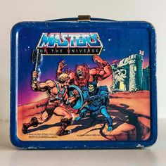 """A tin """"He-Man and the Masters of the Universe"""" lunchbox from the early 1980s"""