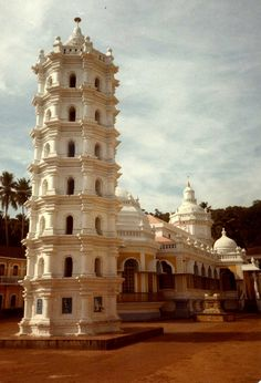 India, Goa, Panaji | A gorgeous Portugese style church in the old city.