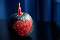 Glitter Heart Pumpkin | 39 Outside-The-Box Pumpkin Ideas