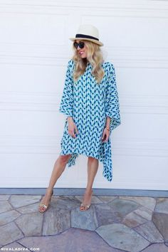 The Perfect Summer Caftan Dress Tutorial make for swimsuit coverup