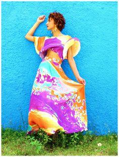 Elegância no Verão - Como vestir-se bem Conjunto gypsy, bata cropped e saia longa