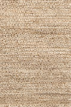 This chic, organic rug from Dash and Albert, in a natural hue, is made from jute, and is attractive option for any room. Dash and Albert Natural Jute Woven Rug Ships Free from Lavender Fields. Jute Rug, Woven Rug, Jute Fabric, Motif Art Deco, Solid Rugs, Dash And Albert, Beige Aesthetic, Natural Rug, Natural Texture