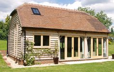 Build an Shed in A Weekend Oak Framed Buildings, Timber Buildings, Garden Buildings, Oak Framed Extensions, House Extensions, Barn Conversion Exterior, Garden Cabins, Garden Cottage, Oak Frame House