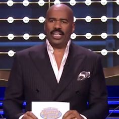 Steve Harvey Turns The Tonight Show Into Family Feud, and It's Awesome: Steve Harvey stopped by The Tonight Show Starring Jimmy Fallon on Monday night to host a special late-night edition of Family Feud. Tonight Show, Family Feud, Steve Harvey, Jimmy Fallon, Comedians, Steve, Movie Tv, Television Show, Make Me Laugh