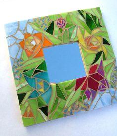 Mosaic Mirror - Garden Bouquet. $45.99, via Etsy.