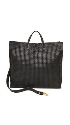 CLARE VIVIER Basket Weave Simple Tote | selected by jamesdrygoods.com for the made in america: contemporary project | #madeinusa |